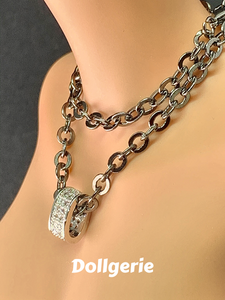 Black Silver Chain Necklace for SmartDoll / DD (from Dollsories)