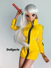 """Kill Bill"" version- Front Zip Midi Yellow Dress"