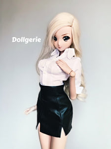 Black Faux Leather Mini Skirt for SmartDoll