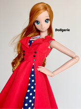 Red SSS (Swing Skater Sleeveless) Dress, for SmartDoll / DD