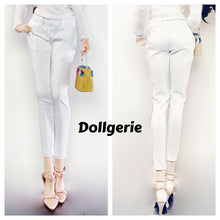 Slim White Long Pants for SmartDoll
