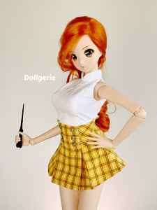 Mini Pleated Yellow Skirt for SmartDoll