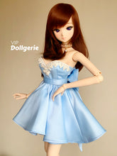 Cinderella Blue A-Line Tube Dress with Huge Bow for SmartDoll