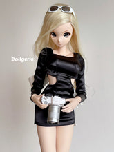 Big White Bow Long Sleeve Mini Dress for SmartDoll