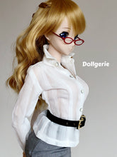 White sheer striped shirt made for Smartdoll / DDdy / SD13