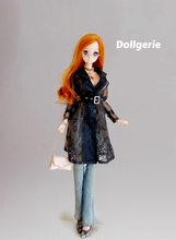 Signature Black Lace Trench Coat for Smartdoll / DDdy
