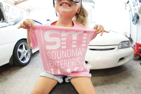 Pink Youth Short Sleeve Soundman T-Shirt
