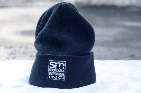 Cuffed, embroidered Soundman Beanie