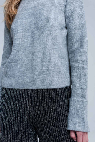 Soft Knit Grey Sweater