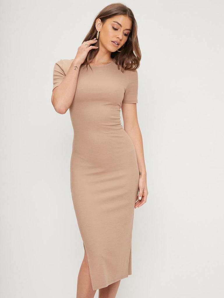MOTF ECO RECYCLED POLYESTER SLIM-FIT DRESS