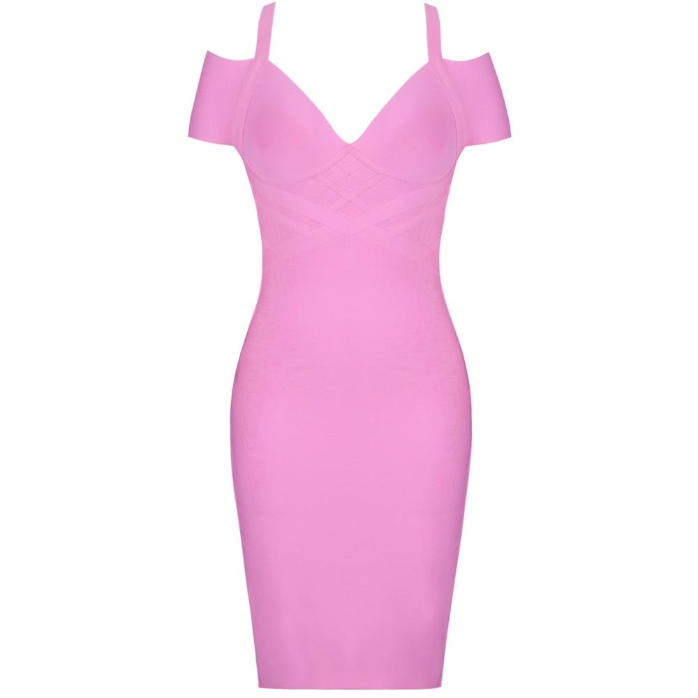 Summer Off Shoulder Bandage Dress
