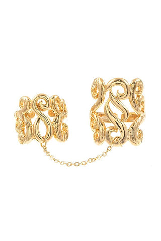 Filigree Detailed 2pc Ring Set
