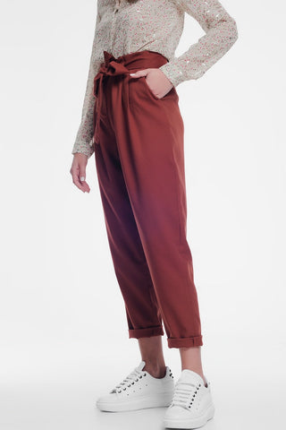 Holland Faux Leather Trousers