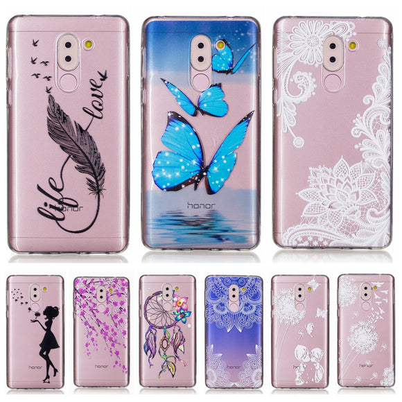 Soft TPU case sFor Fundas Huawei Honor 6X case For Coque Huawei Honor 6X phone cases Transparent Silicone cover