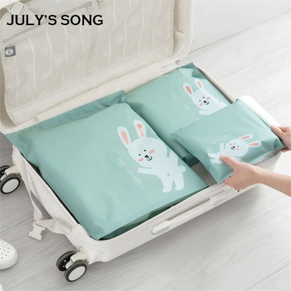 2017 JULY'S SONG 3pcs Travel Zipper Bag Set Storage Organizer for Cloth Socks Travel Accessory
