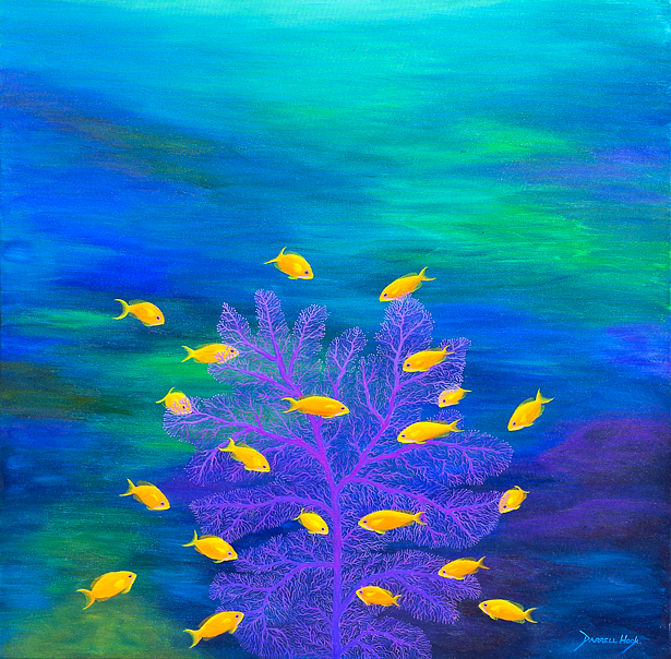 Basslet Beauty - Modern Painting on Canvas by Darrell Hook