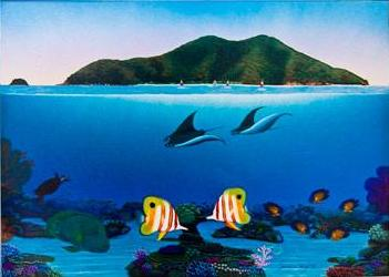 The Reef's Ability to Adapt - Original Painting on Canvas by Darrell Hook