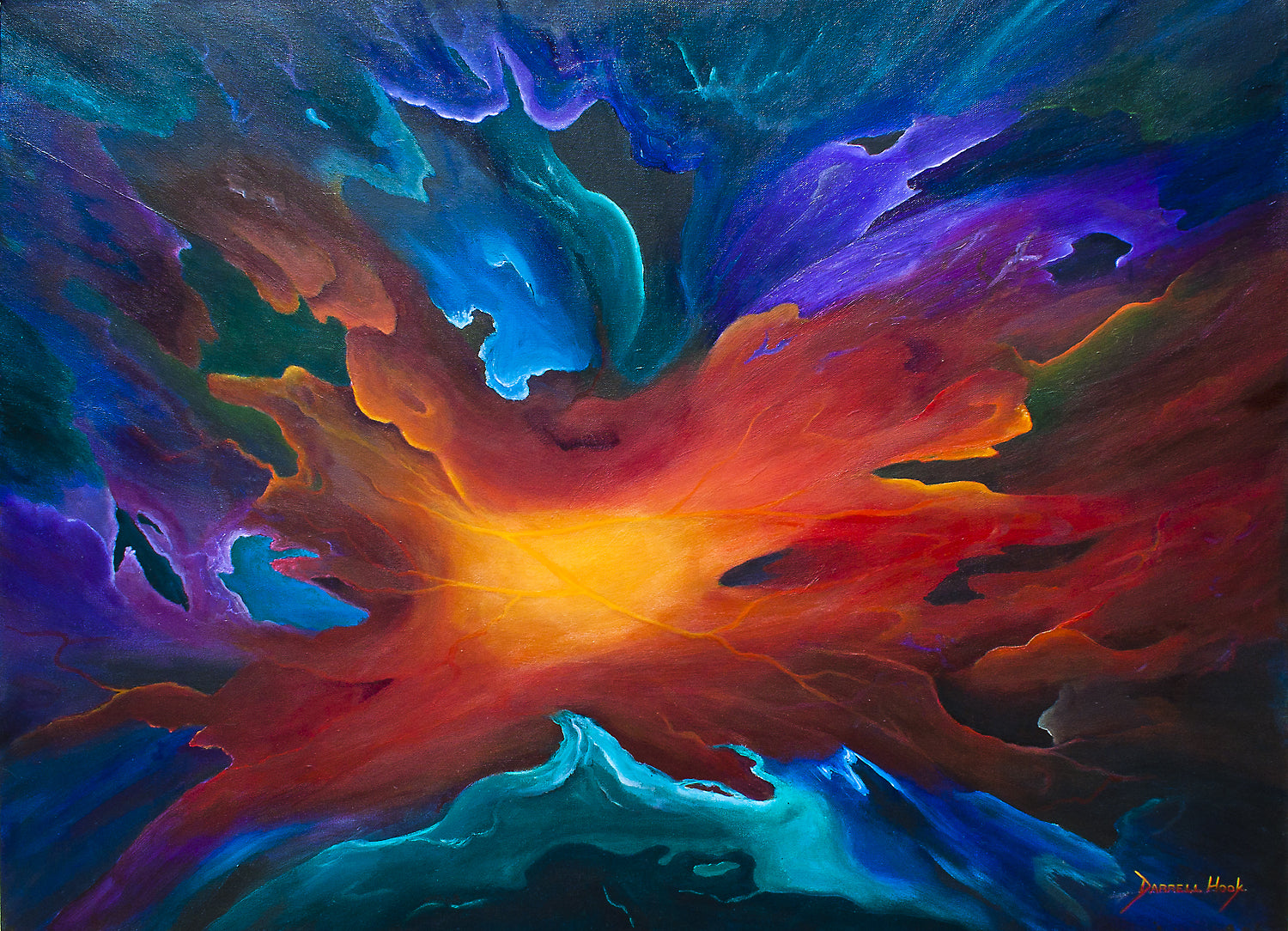 Vortex of Colours - Abstract original canvas by Darrell Hook