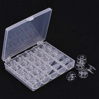 Transparent Case Box With 25 Bobbins
