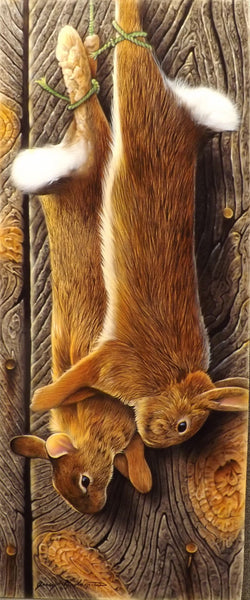 Diamond Painting Two Hanged Brown Rabbits - OLOEE