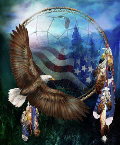 Diamond Painting American Dream Catcher Eagle - OLOEE