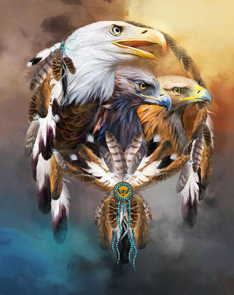 Diamond Painting Three Eagles Dreaming - OLOEE