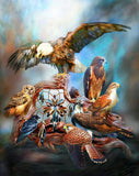 Diamond Painting Group Of Birds Led By Eagle - OLOEE