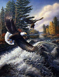 Diamond Painting Eagle Flying Above Water - OLOEE