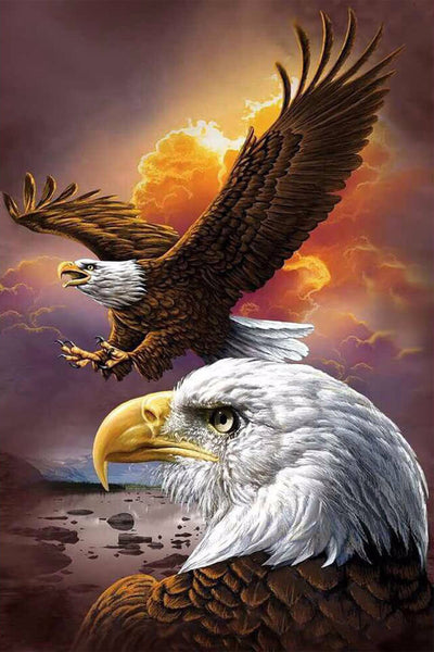 Diamond Painting Rising Eagle Above Sky - OLOEE