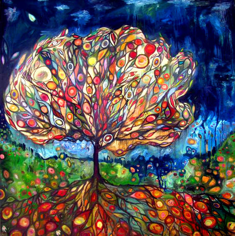 Diamond Painting Colorful Tree Abstract - OLOEE