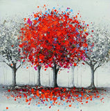 Diamond Painting Water Color Red Tree - OLOEE