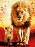 Diamond Painting Father Like Son Lion - OLOEE