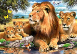 Diamond Painting Family Of Lion In The Jungle - OLOEE