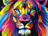 Diamond Painting Colorful Lion Face - OLOEE