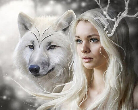 Diamond Painting Wolf Queen - OLOEE