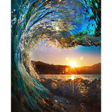 Diamond Painting Water Wave Sun - OLOEE