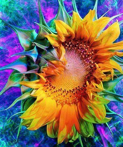 Diamond Painting Oil Painting Sunflower - OLOEE