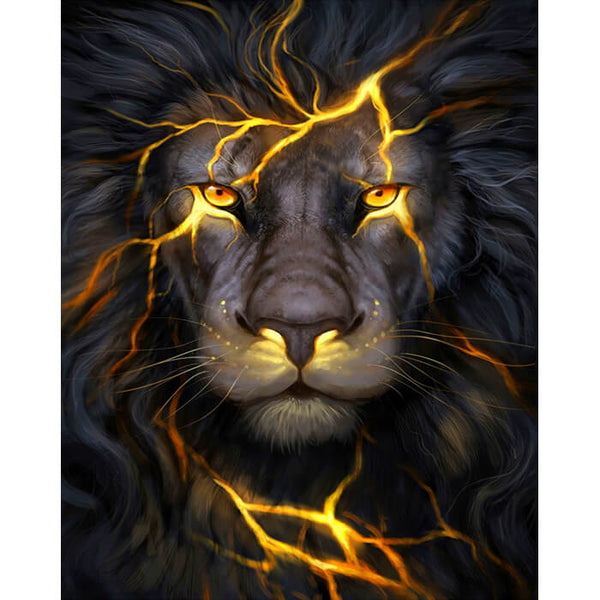Diamond Painting Magma Lion - OLOEE