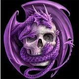 Diamond Painting Purple Dragon Skull - OLOEE