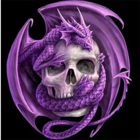 Diamond Oloee Purple Dragon Skull - OLOEE