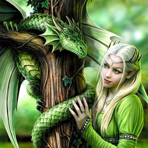 Diamond Oloee Green Dragon Princess - OLOEE