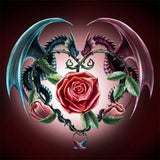 Diamond Painting Mythical Dragon Rose - OLOEE