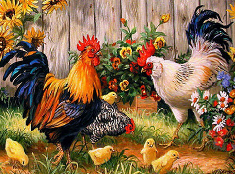 Diamond Painting Chicken Family - OLOEE