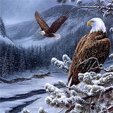 Diamond Painting Bald Winter Eagle - OLOEE