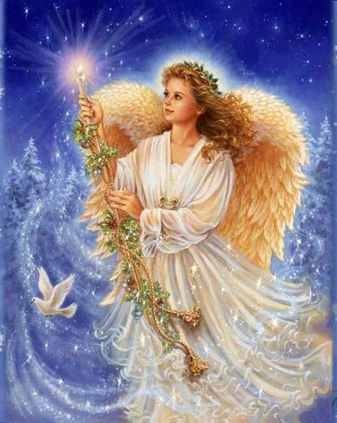 Diamond Painting Beautiful Angel Girl In White - OLOEE