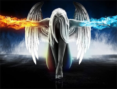Diamond Painting Fire And Ice Angel - OLOEE