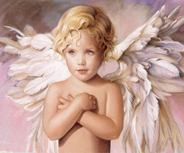 Diamond Painting Adorable Angel Girl - OLOEE