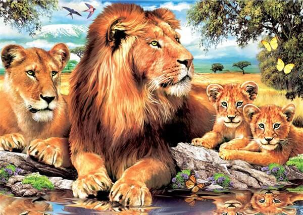 Diamond Painting Lion Family - OLOEE