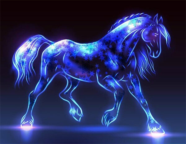 Diamond Painting Blue Horse - OLOEE