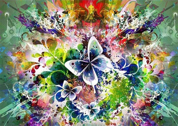 Diamond Painting Butterfly Abstract - OLOEE